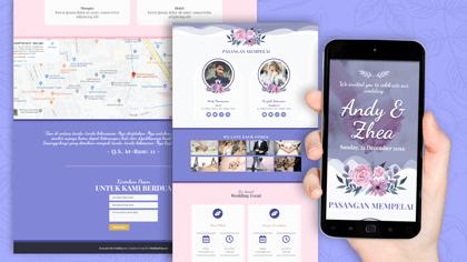 Undangan Pernikahan Digital Desain 16