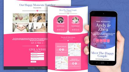 Undangan Pernikahan Digital Desain 18