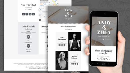 Undangan Pernikahan Digital Desain 19