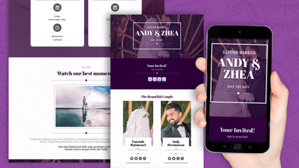 Undangan Pernikahan Digital Desain 20