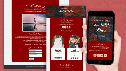 Undangan Pernikahan Digital Desain 21