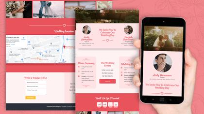 Undangan Pernikahan Digital Desain 24