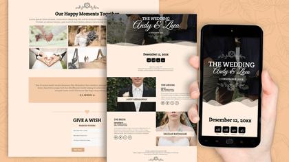 Undangan Pernikahan Digital Desain 25