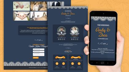 Undangan Pernikahan Digital Desain 26