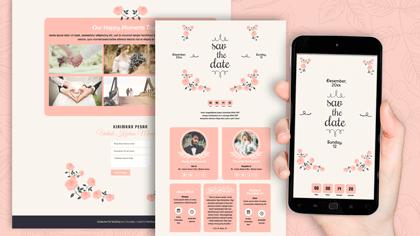 Undangan Pernikahan Digital Desain 28
