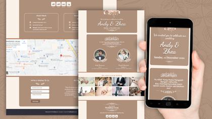 Undangan Pernikahan Digital Desain 31