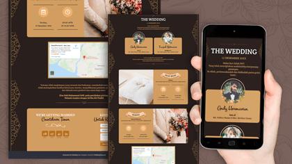Undangan Pernikahan Digital Desain 34