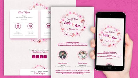 Undangan Pernikahan Digital Desain 05