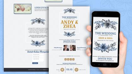 Undangan Pernikahan Digital Desain 44