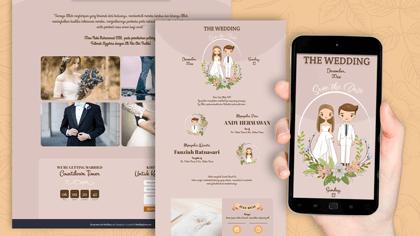 Undangan Pernikahan Digital Desain 43