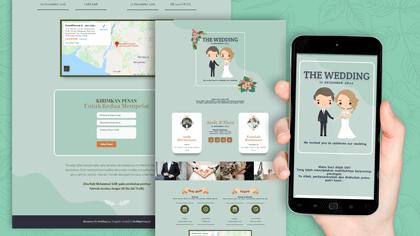 Undangan Pernikahan Digital Desain 42