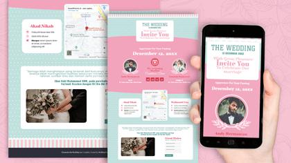 Undangan Pernikahan Digital Desain 41