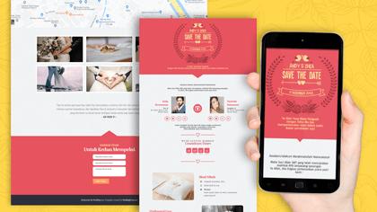 Undangan Pernikahan Digital Desain 40