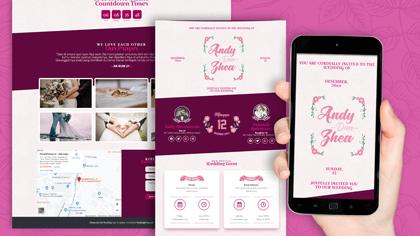 Undangan Pernikahan Digital yang Elegan dan Modern Desain 38