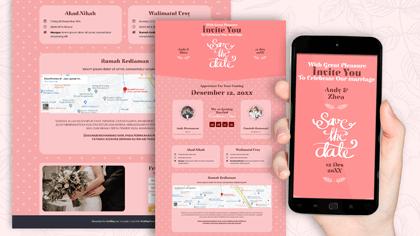 Undangan Pernikahan Digital Desain 36