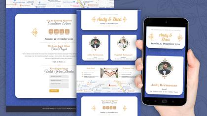 Undangan Pernikahan Digital Desain 35