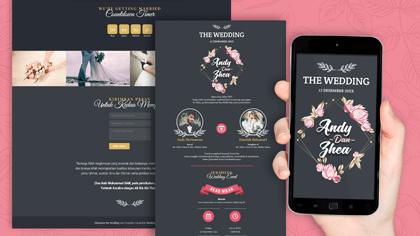 Undangan Pernikahan Digital Desain 10